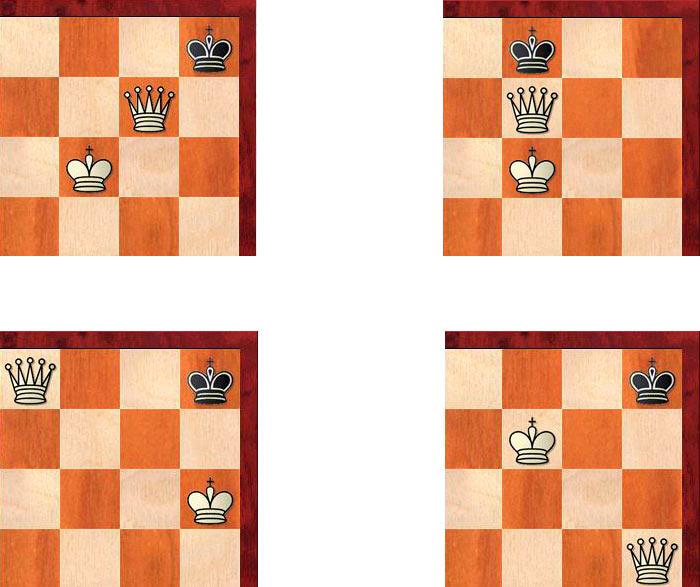 Варианты матов ферзем и королем одинокому королю в шахматах